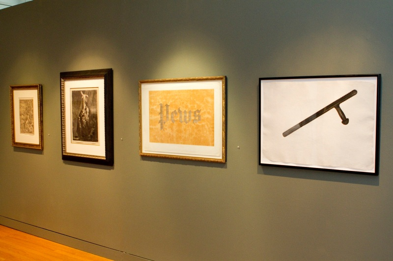 Mel Chin, Ed Ruscha, Rembrandt...oh, and Albrecht Durer. Photo courtesy of Marc Newsome